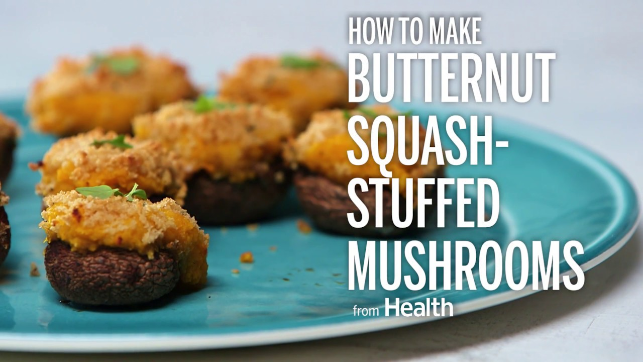 How to Make Creamy Butternut Squash-Stuffed Mushrooms | Health - YouTube