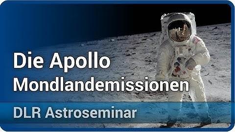 Apollo Mondlandemissionen - Neil Armstrong bis Harrison Schmitt • DLR Astroseminar   Hildegard Werth