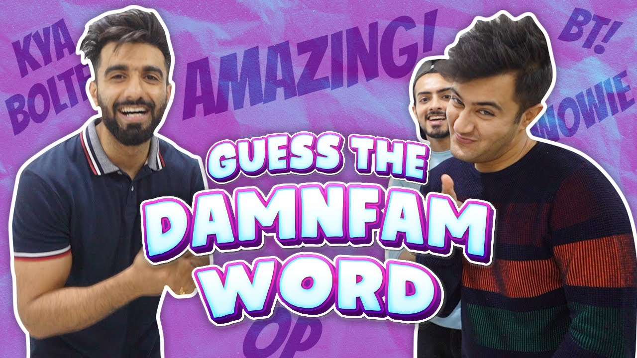 Download GUESS THE DAMNFAM WORD CHALLENGE ft SANKET & RISHABH   Mr.MNV  