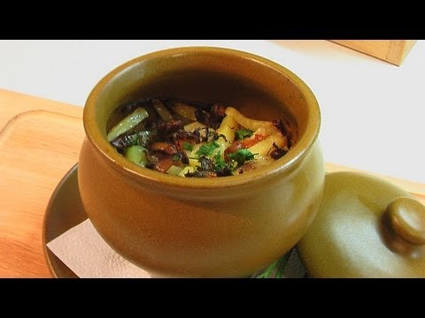 Овощное рагу с индейкой в горшочке видео рецепт