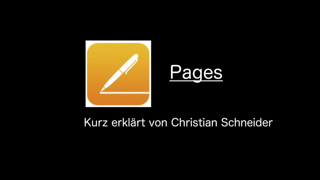 Brief Mit Pages Schreiben Youtube