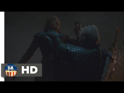 Арья Старк убивает Короля Ночи Игра Престолов 8 сезон 3 серия