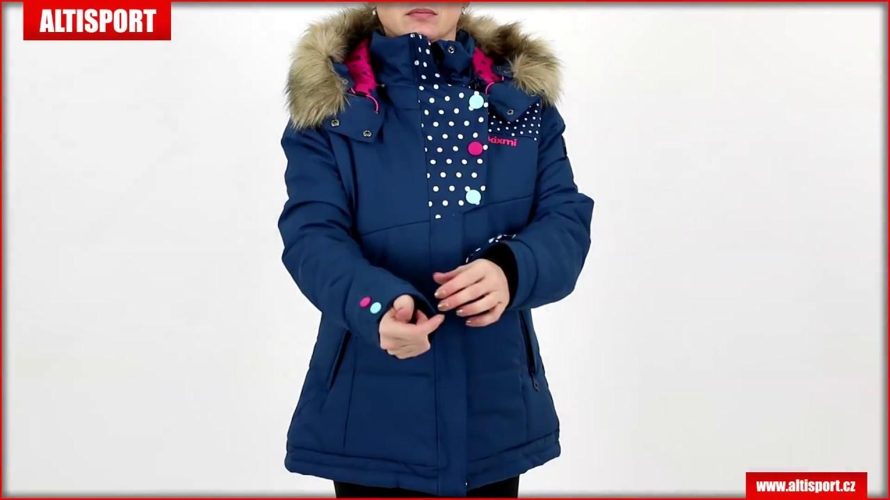dámská zimní bunda kixmi baila aaljw16700 tmavě modrá - YouTube b9671ccd51