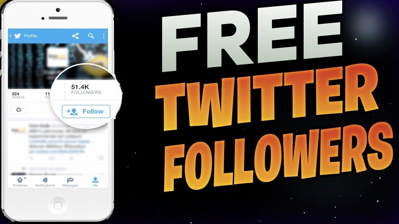twitter followers free without following back