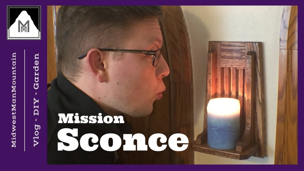 How To Make A Mission Style Wall Sconce Youtube