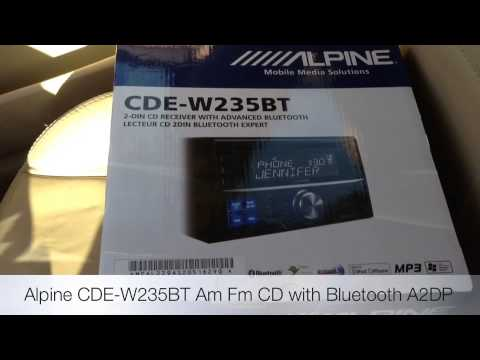 How to Replace VW JETTA Radio with ALPINE CDE-W235BT bluEtooth usb ipod iphone 5