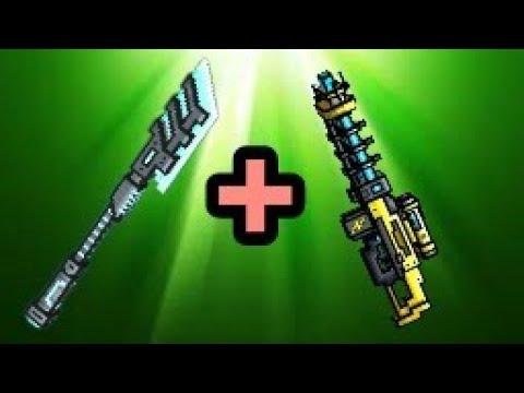 Pixel Gun 3d - Laser Spear + Electro Blast Rifle