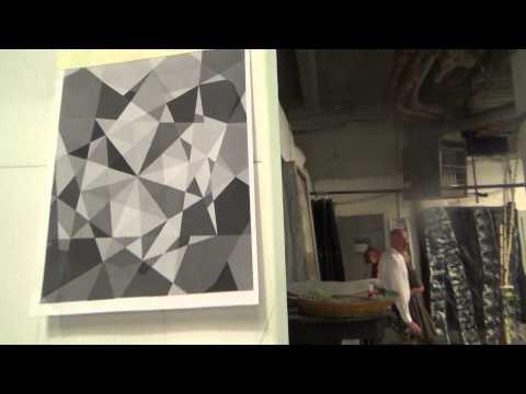 Geometric Paintings At Chashama studio program Harlem--Republic Reporters