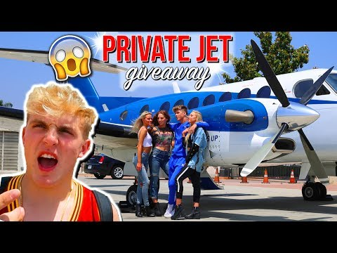 PICKING UP 3 FANS IN A PRIVATE JET! FT. JAKE PAUL (INSANE REACTION)