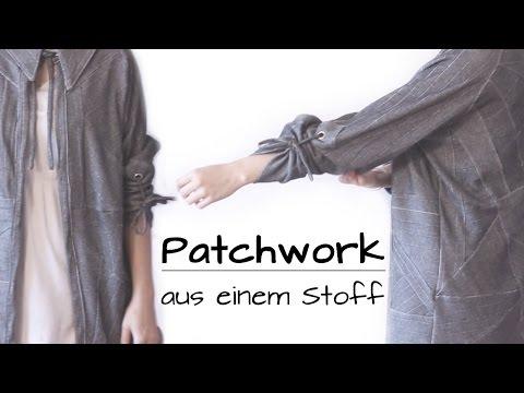 ♛ Patchwork aus einem Stoff: dünne Jacke mit Nadelstreifen  Work in Progress