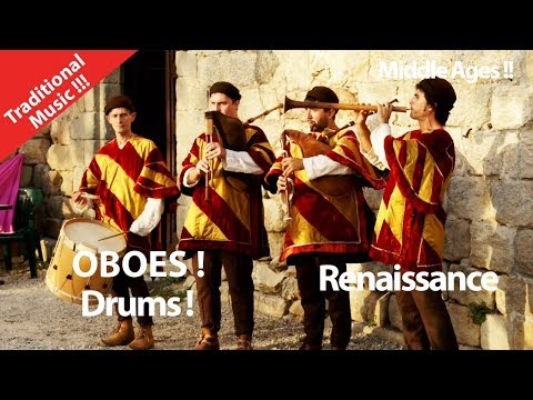 Middle Ages ! Great Musicians !  Medieval Music ! Ancient Music Oboe ! Enjoy sing and dance
