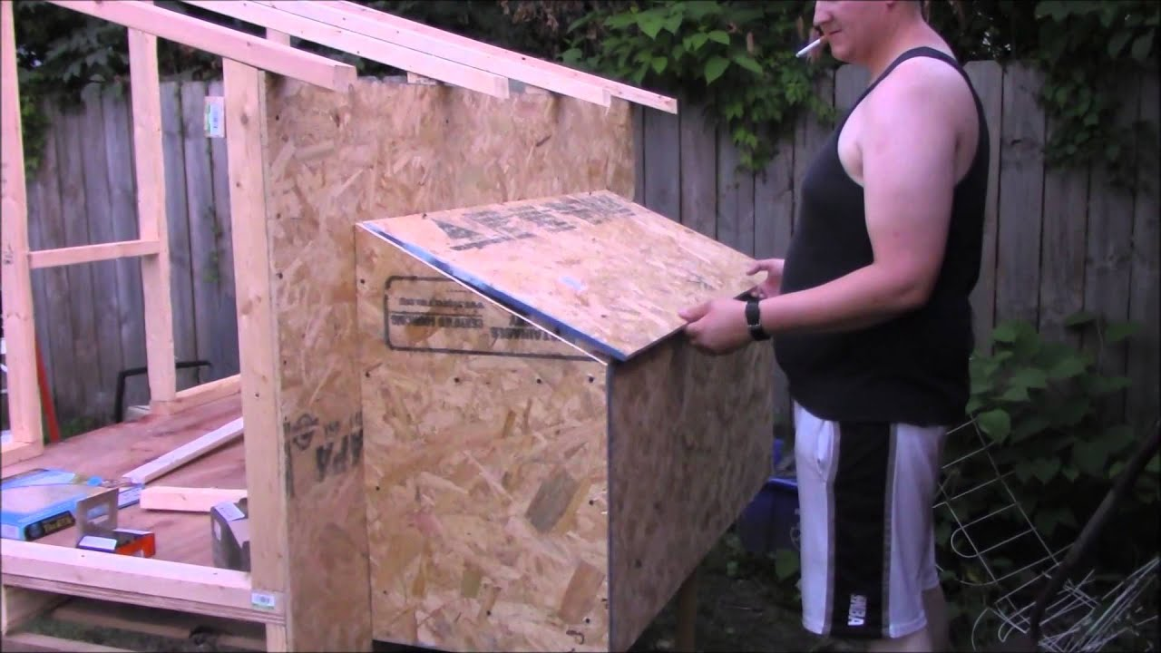 Chicken Coop Build Part 4 The Nesting Boxes Closed In