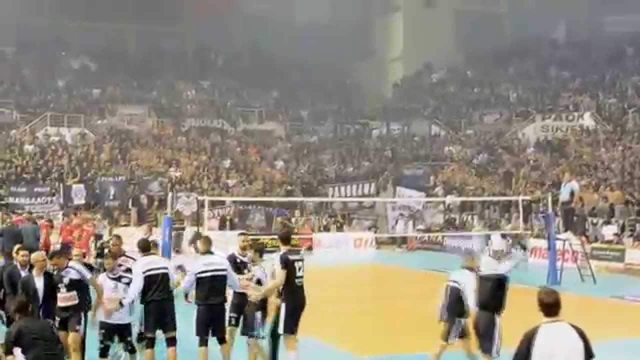 Paok Olympiakos: PAOK-Olympiakos (playoff Volley)