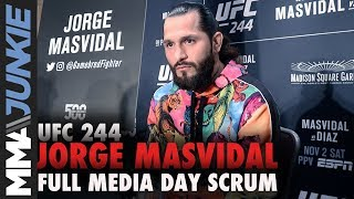 UFC 244: Jorge Masvidal media day scrum