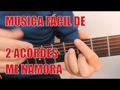 ME NAMORA- EDU RIBEIRO- AULA DE VIOLÃO COM 2 ACORDES SIMPLIFICADA E LETRA
