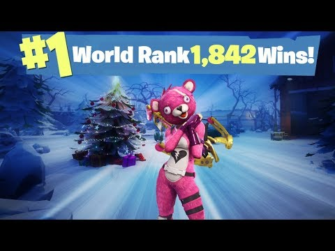#1 World Ranked 1,842 Solo Wins - GTX 1080TI and 20,000 vbucks giveaway