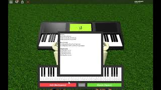 Undertale Theme Piano In Roblox (Sheets Is In The Description...)