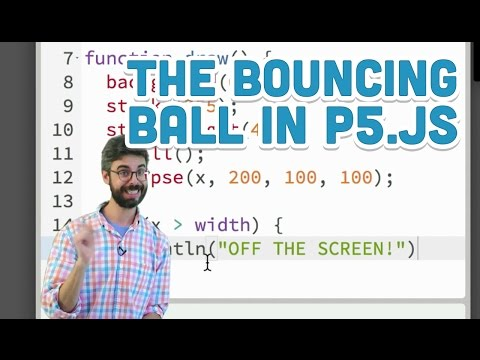 3.2: The Bouncing Ball - P5.js Tutorial