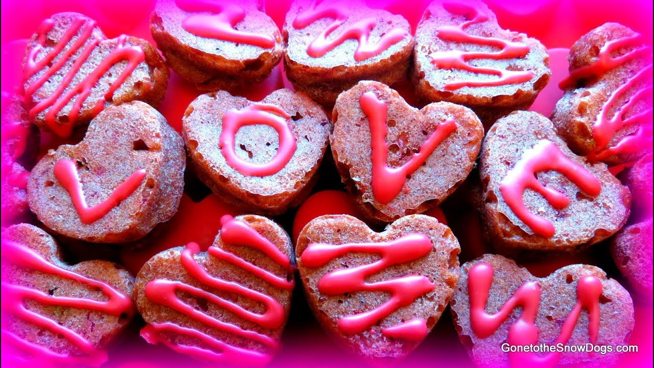 red velvet pupcakes homemade valentines dog treats diy snacks with the snow dogs 22 youtube - Homemade Valentine Treats