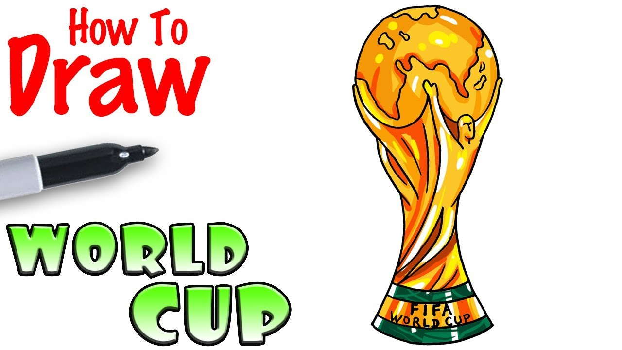 How To Draw The Worldcup Trophy Youtube