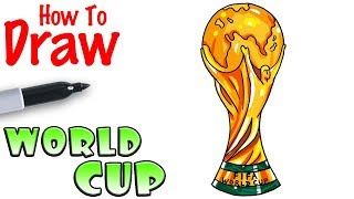 How to Draw the Worldcup Trophy