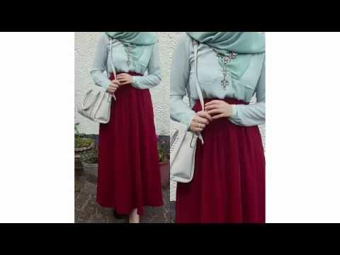 4646a629a Maxi skirt #Hijab_Lookbook - style jupe longue hijab تنانير أنيقة وناعمة  للمحجبات 2016 - YouTube