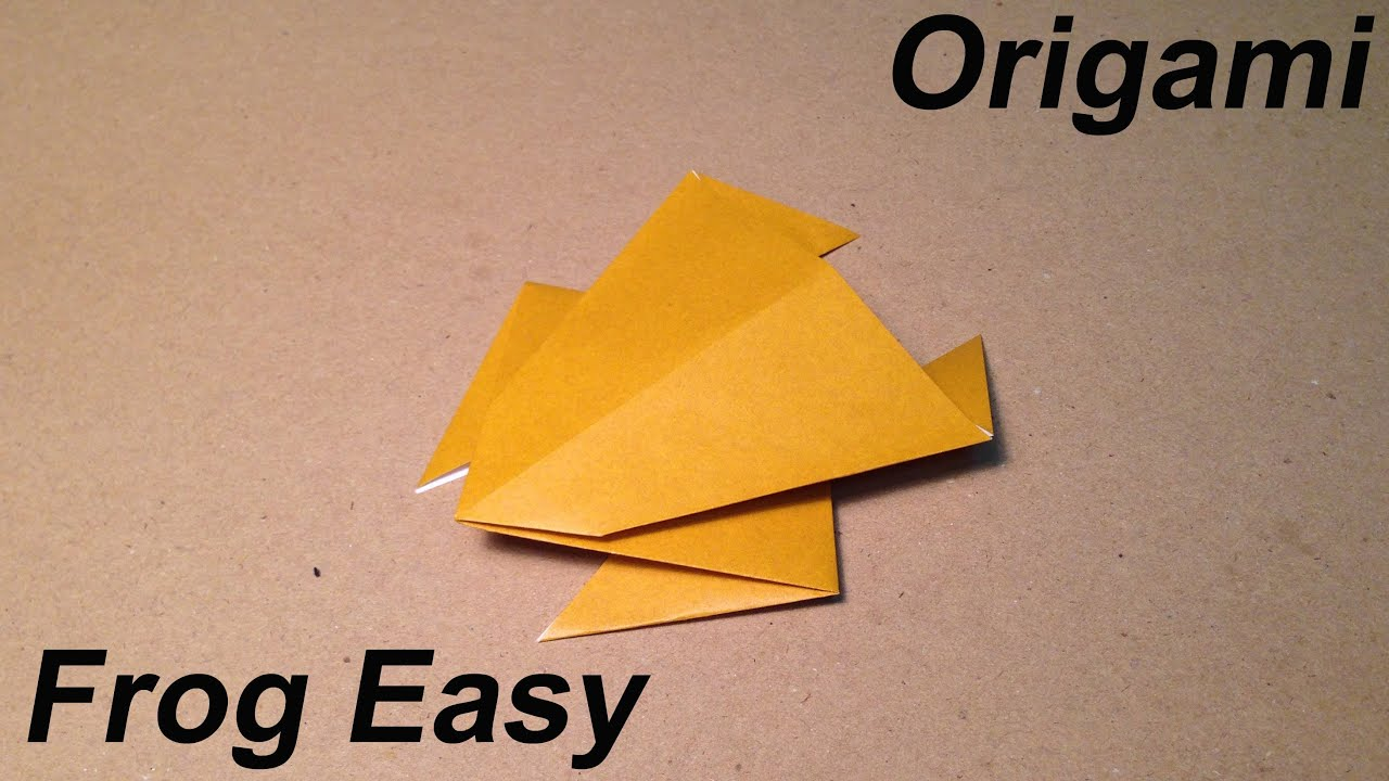 How To Make An Origami Frog Easy For Children