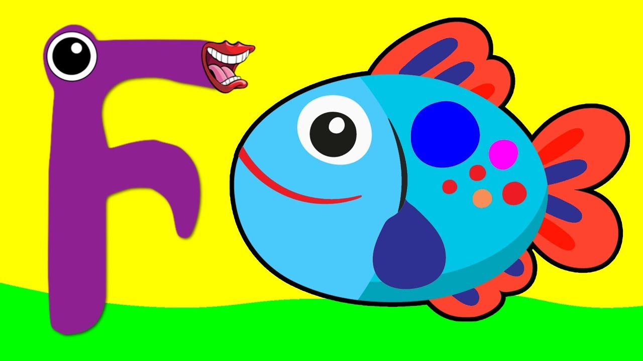 Learn the Alphabet Animals - Letter F - FISH - YouTube
