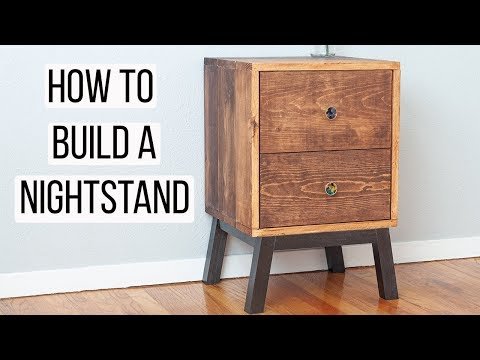 Simple DIY Nightstand with Drawers - How to make - Anika's DIY Life