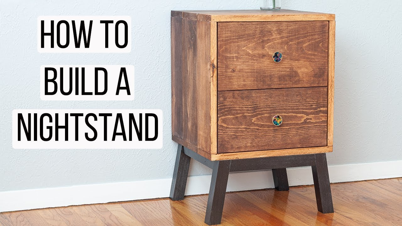 Simple Diy Nightstand With Drawers How To Make Anika S Life