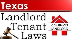 Texas Landlord Tenant Laws | American Landlord