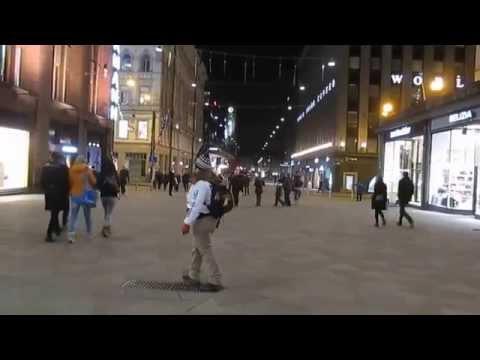 City Center of Helsinki...American Street Preacher
