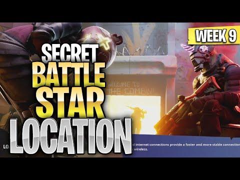 WEEK 9 SECRET BATTLE STAR LOCATION GUIDE SEASON 10 - Ready Or Not Challenges Battle Star Season X
