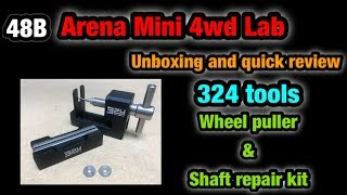 『ミニ四駆』ARENA MINI 4WD CLUB #48B UNBOXING AND QUICK REVIEW 324 TOOLS WHEEL PULLER AND SHAFT REPAIR KIT