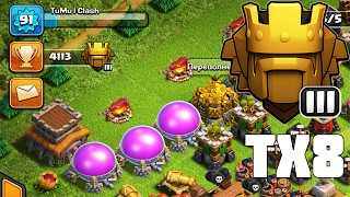 4100+ ТХ8 В ТИТАНЕ! ВСЕ АСПЕКТЫ !УШЛО 2000 ГЕМОВ !CLASH OF CLANS