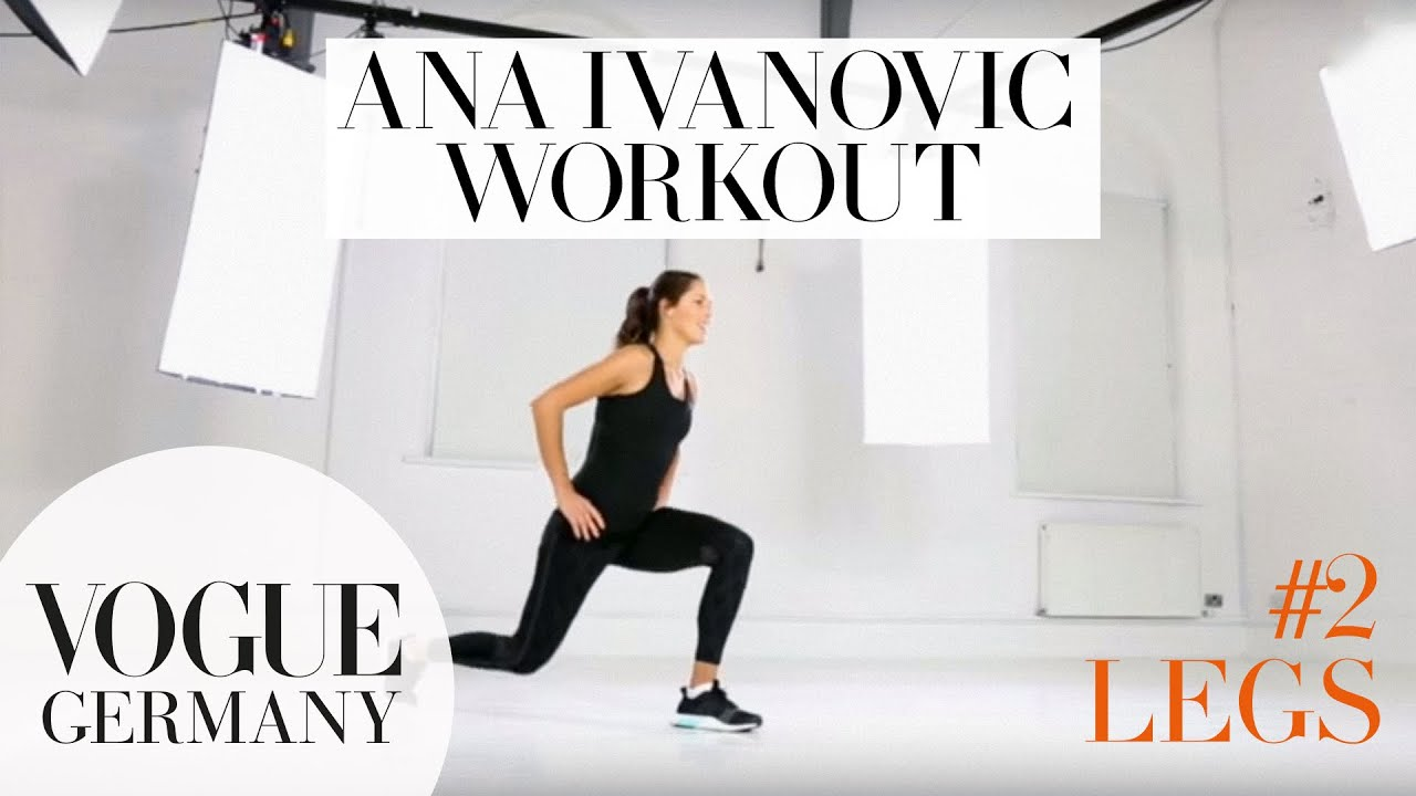 Workout mit Ana Ivanovic #2: Tolle Beine | how to fitness routine workout core training beauty