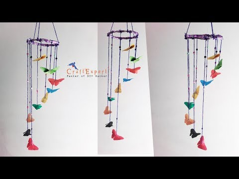 DIY Butterfly Paper Wind Chimes Craft | How to Make Wind Chimes out of Paper | DIY Paper Crafts