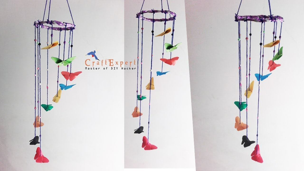 Diy Erfly Paper Wind Chimes Craft How To Make Out Of Crafts
