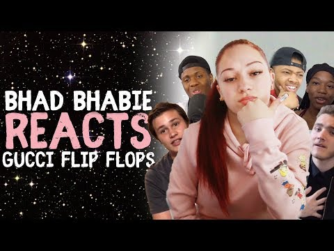 """BHAD BHABIE reacts to """"Gucci Flip Flops"""" ft. Lil Yachty roasts and reaction vids 