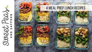 4 Meal Prep Lunch Recipes