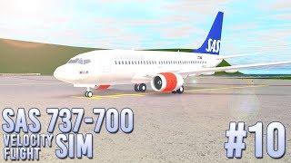 ROBLOX - France Vol SAS 737-700! Simulateur de vol velocity (fr) #10