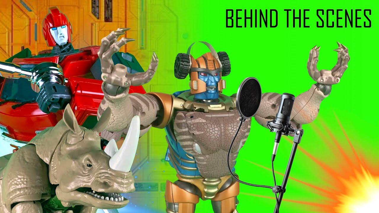 Behind the Scenes: Ironhide VS Ironhide VS Rhinox | Transformers Stop Motion Animation |