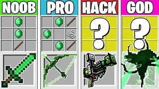 Minecraft Battle: EMERALD CRAFTING CHALLENGE! NOOB vs PRO vs HACKER vs GOD in Minecraft Animation