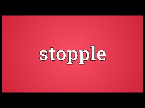 Header of stopple