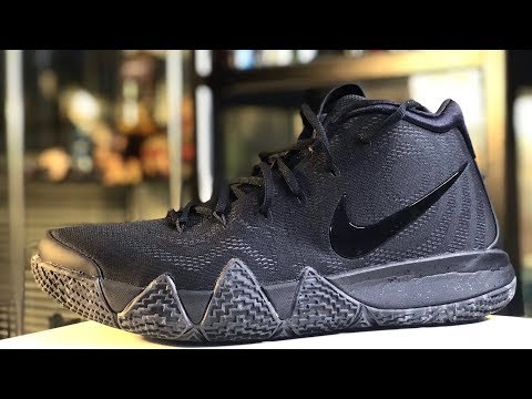 """KYRIE 4 """"BLACKOUT"""" ON-FEET AND DETAILED LOOK"""