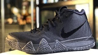 "KYRIE 4 ""BLACKOUT"" ON-FEET AND DETAILED LOOK"