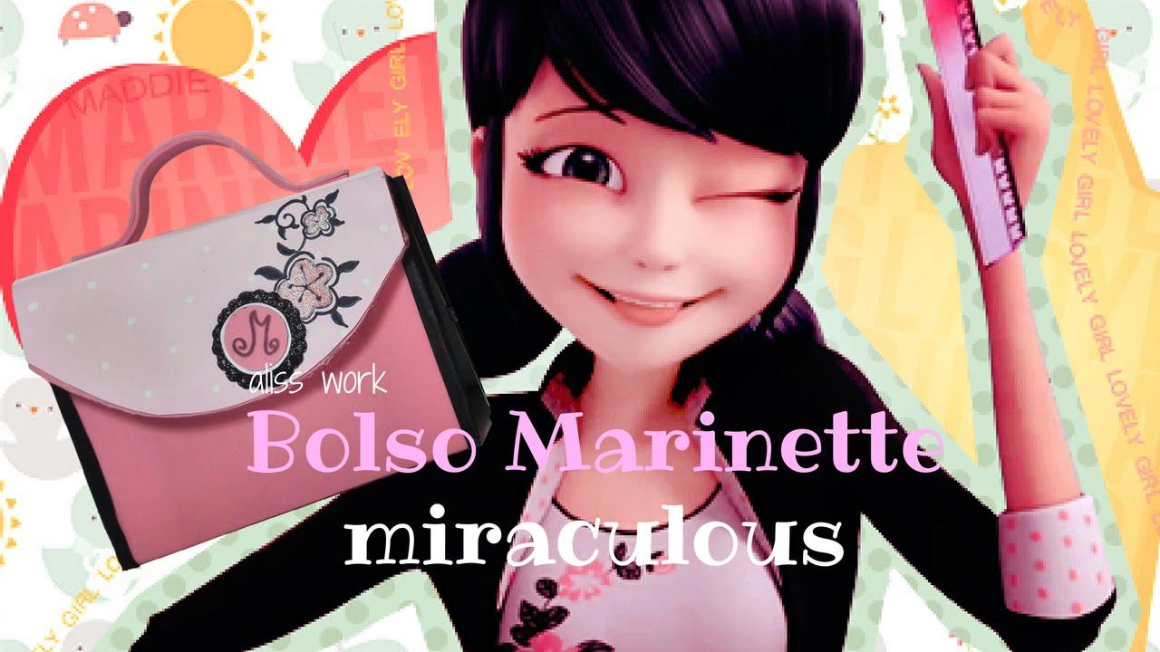 Como Hacer La Libreta De Dibujo De Marinette Prodigiosa: COMO HACER EL BOLSO DE MARINETTE/ LADYBUG/MIIRACOLOUS