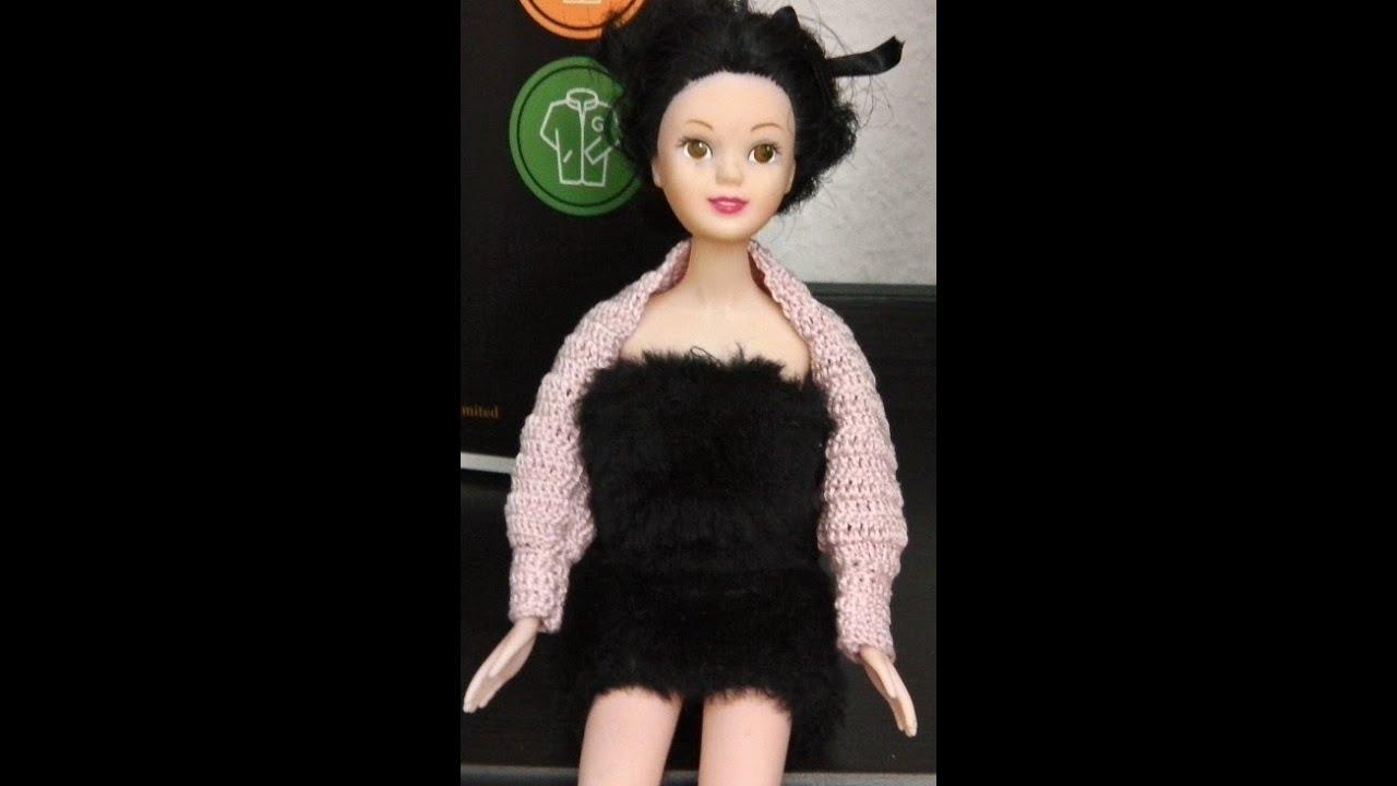 Bolero Jacke für Puppen Linkshänder Häkelanleitung - YouTube