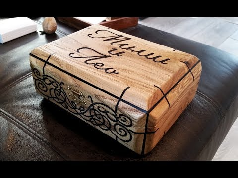 The Wedding Gift: Engraved Oak & Felt Micarta Display Box............... DSNERV