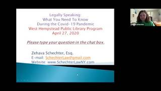 WHPL Legally Speaking